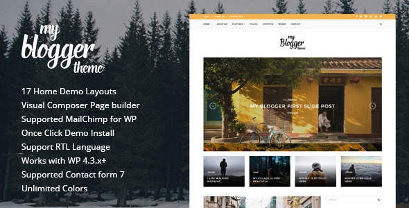 Myblogger – Responsive WordPress Blog Theme