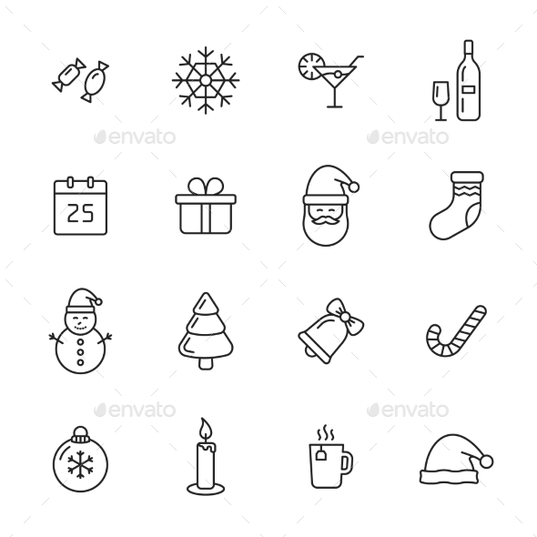 Christmas Icons - Seasonal Icons