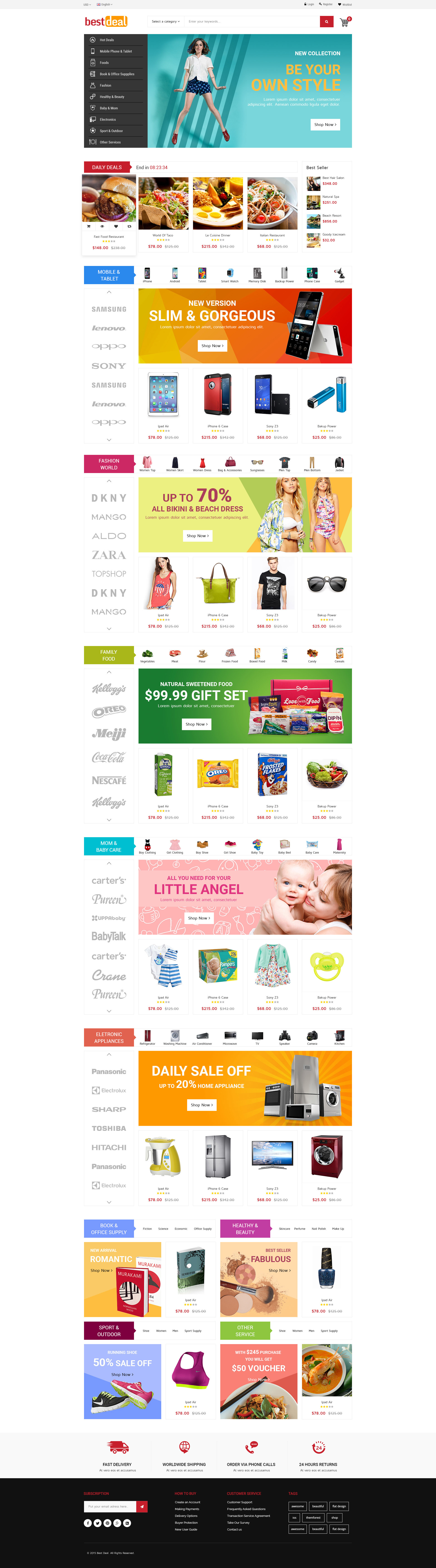 Ultimate Grocery Outlet Store Premium Responsive Magento Theme ...