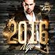 NYE Vip Party | Gold Flyer Template - GraphicRiver Item for Sale