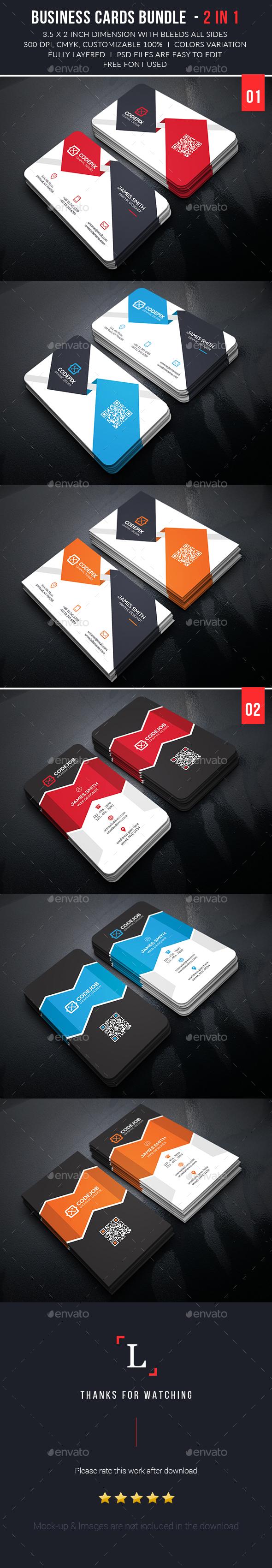 Elegant Business Card Bundle - Business Cards Print Templates