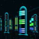 Night Space City - VideoHive Item for Sale