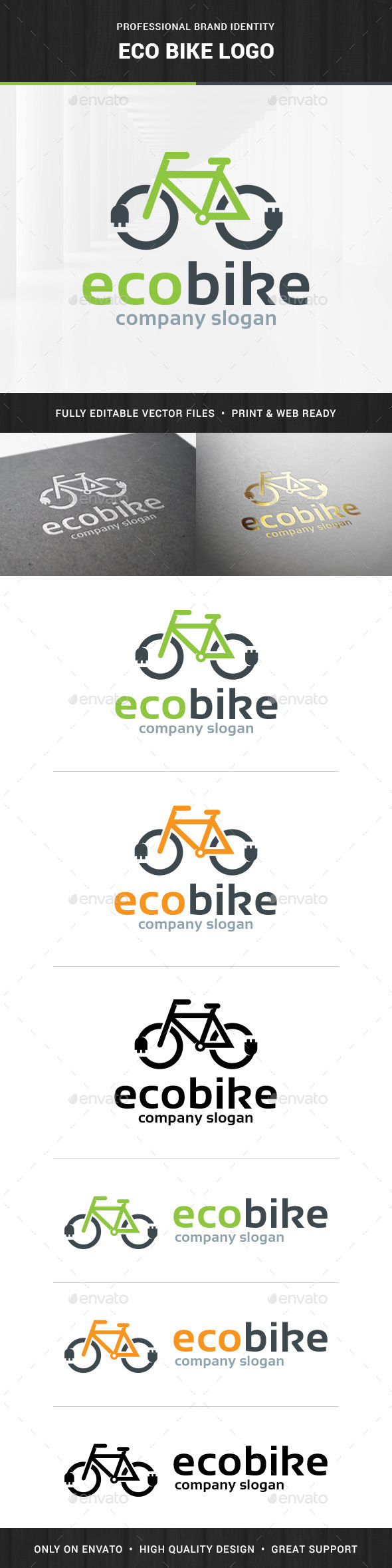 Eco Bike Logo Template - Objects Logo Templates