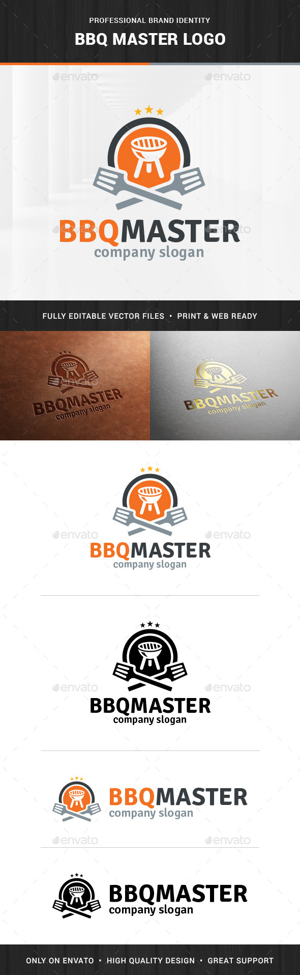 BBQ Master Logo Template - Objects Logo Templates