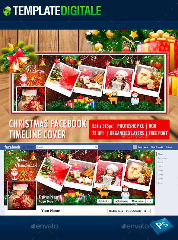 Christmas facebook timeline - Santa Claus - Facebook Timeline Covers Social Media