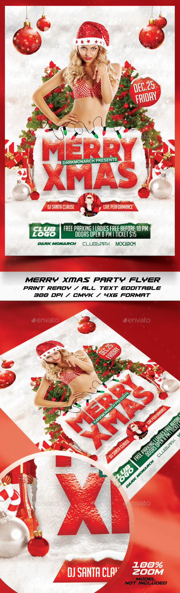 Merry Xmas Party Flyer - Holidays Events