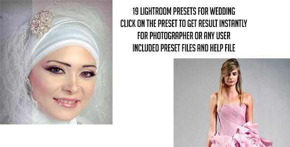 19 Pro Lightroom Presets for Wedding - Wedding Lightroom Presets