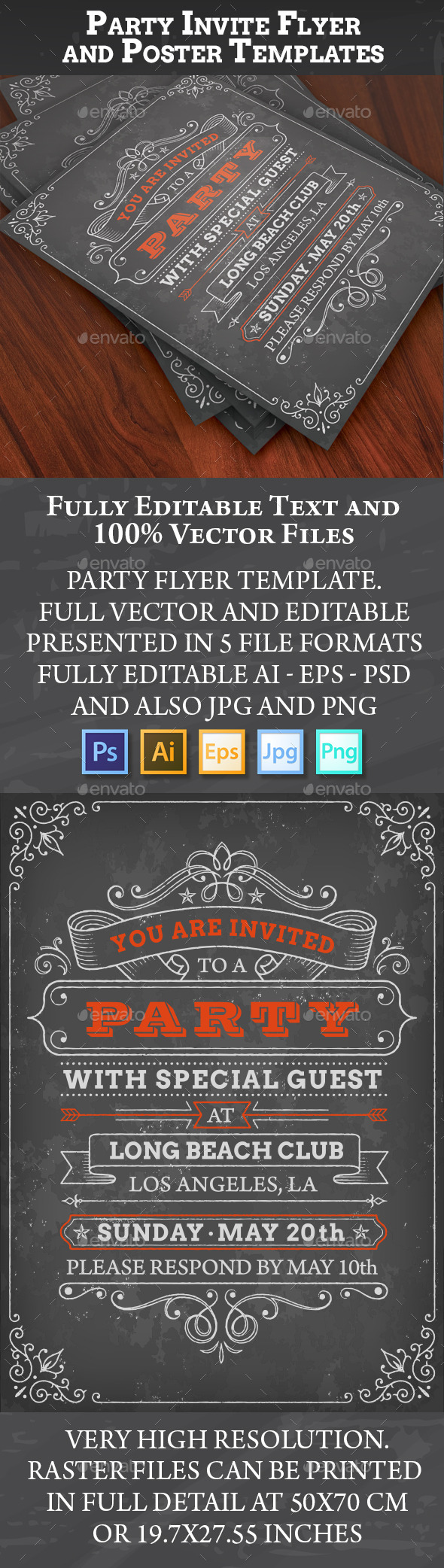 Party Invites or Posters - Events Flyers
