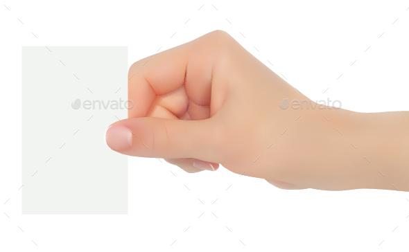 Hand Holding Business Card - Concepts Business