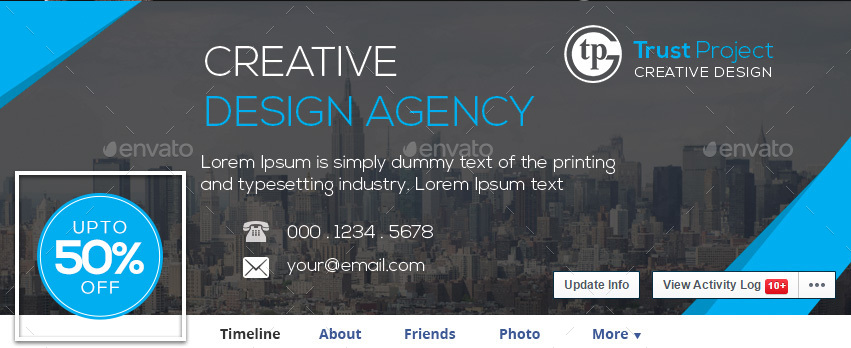 corporate facebook cover page by trust project