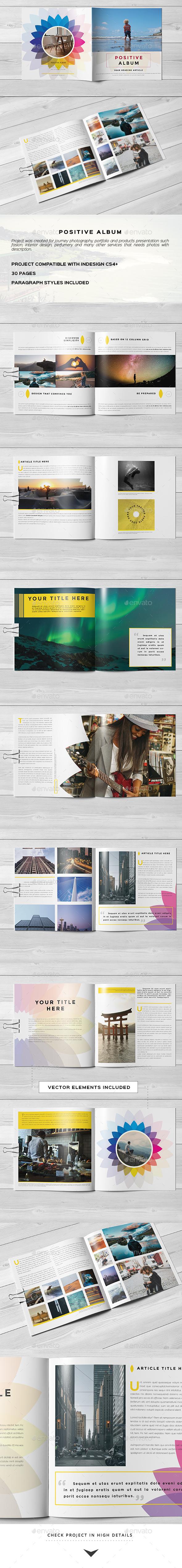 Color Positive Photo Album - Photo Albums Print Templates