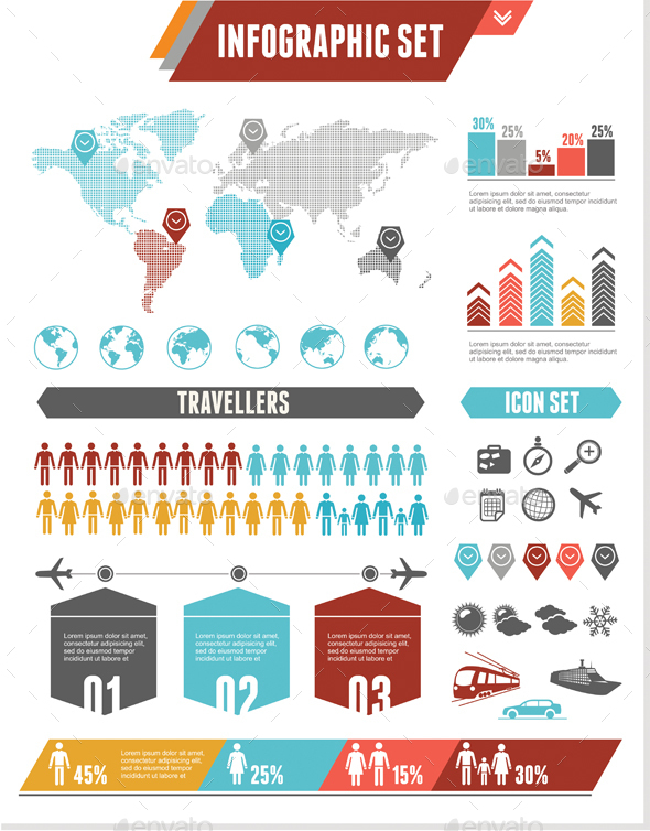 Infographics Elements.Vector - Communications Technology