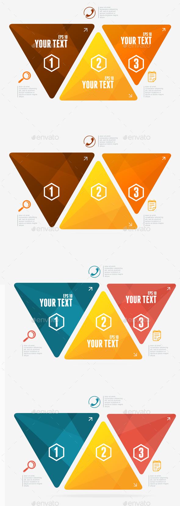 Triangles Options Banner. Vector - Conceptual Vectors