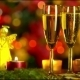 Christmas Celebration With Two Champagne Glasses  - VideoHive Item for Sale