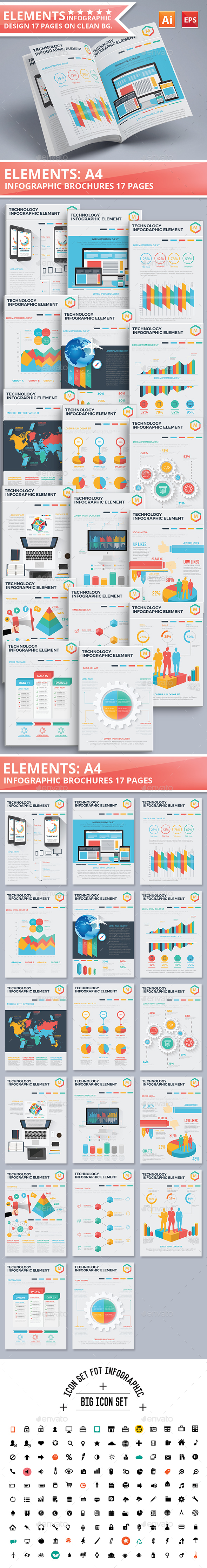 17 Pages Element of Infographic Design - Infographics