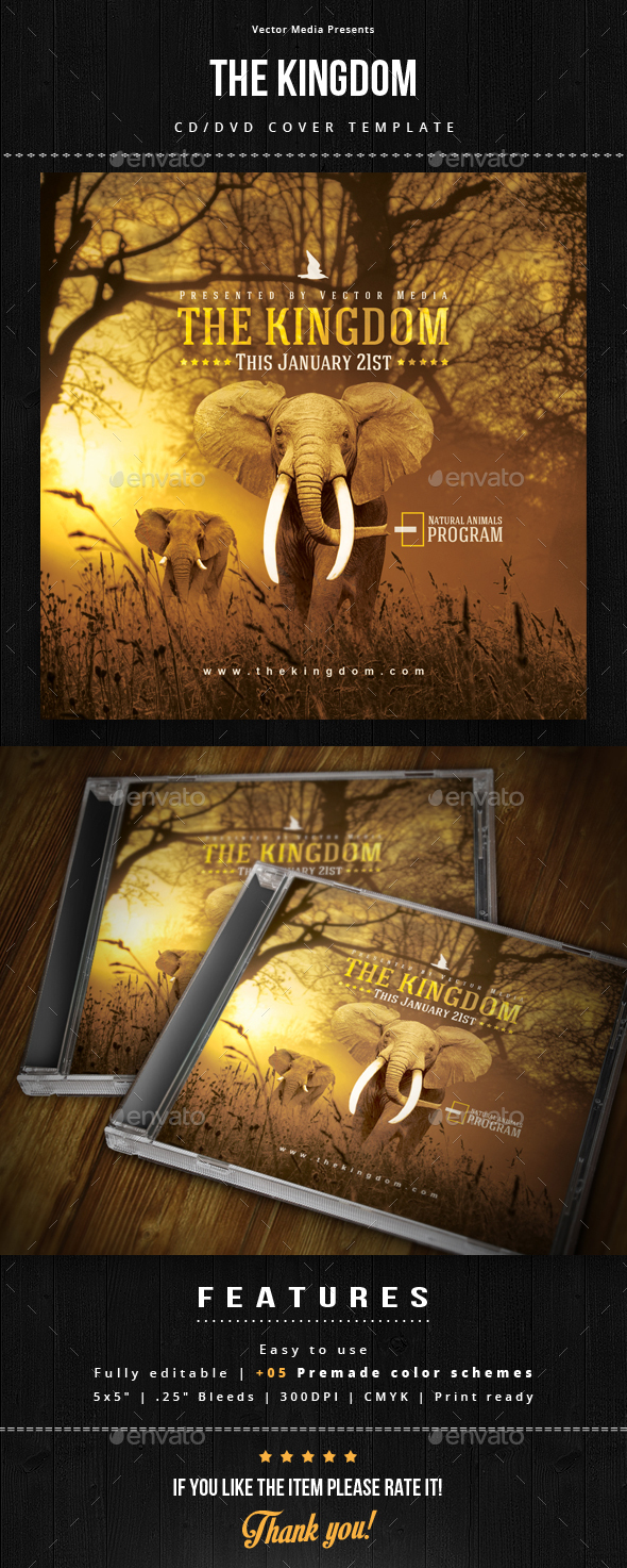 The Kingdom - Cd Cover - CD & DVD Artwork Print Templates