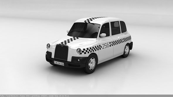 London taxi LTI TX4 - 3DOcean Item for Sale