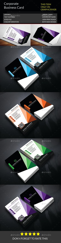 Corporate Business Card Template.148 - Corporate Business Cards