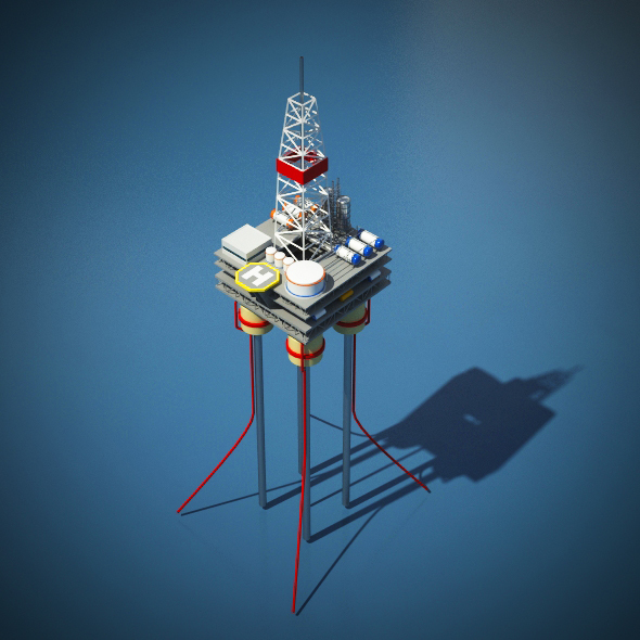 Oil Rig Platform - 3DOcean Item for Sale