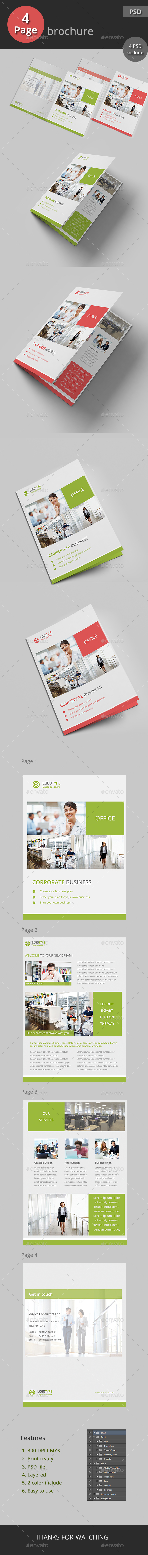 Business Bifold Brochure - Brochures Print Templates