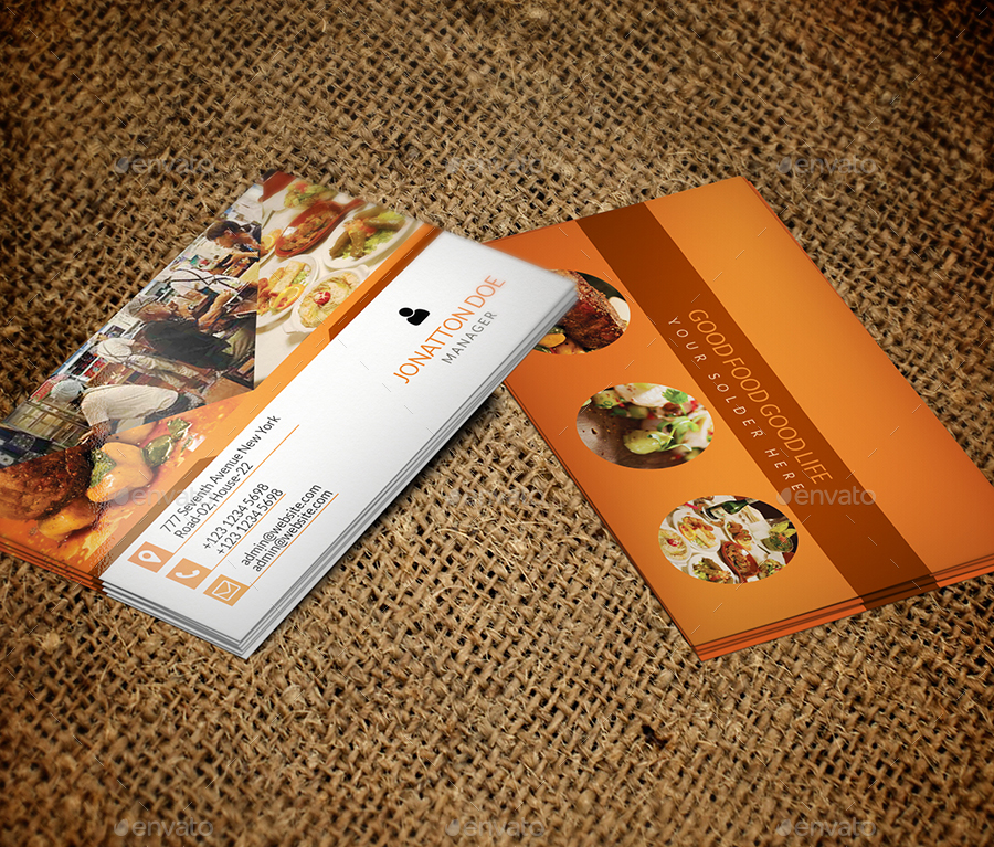 Restaurant Business Card Template By NewDesigner - Restaurant business cards templates free