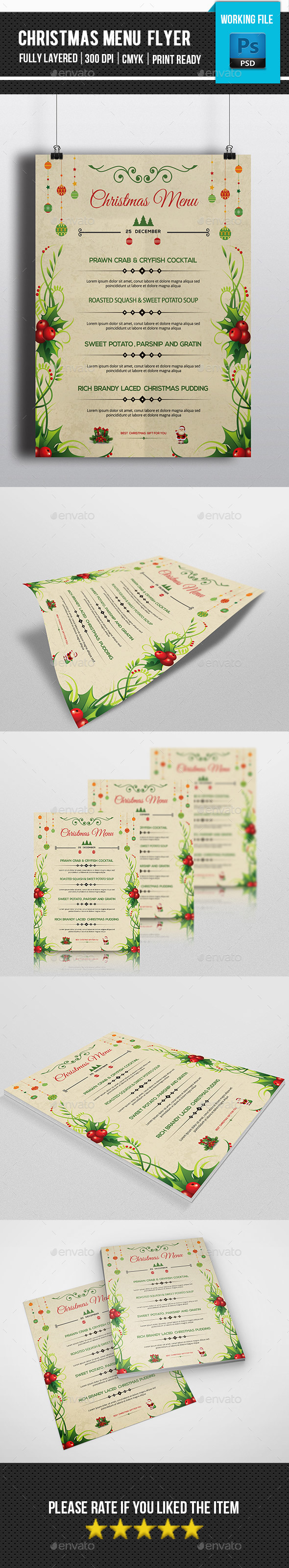 Food Menu Template-V04 - Food Menus Print Templates