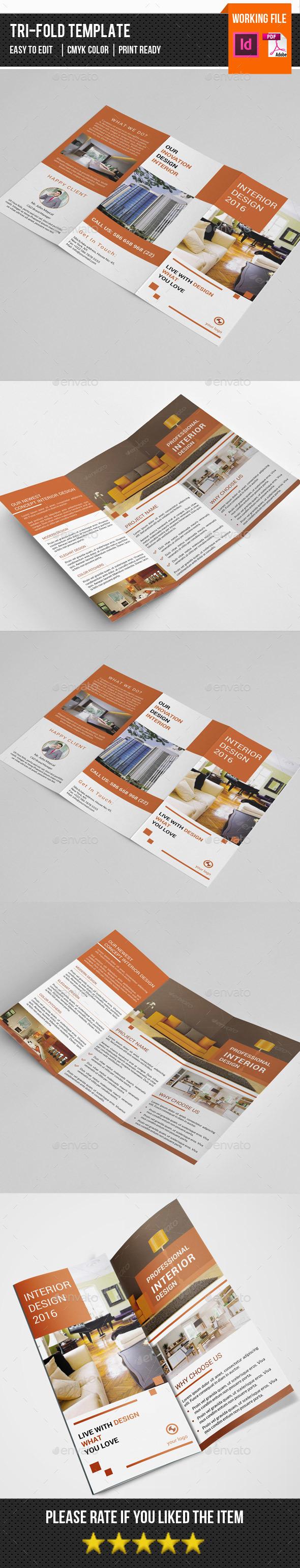 Interior Design Trifold Brochure-V267 - Corporate Brochures