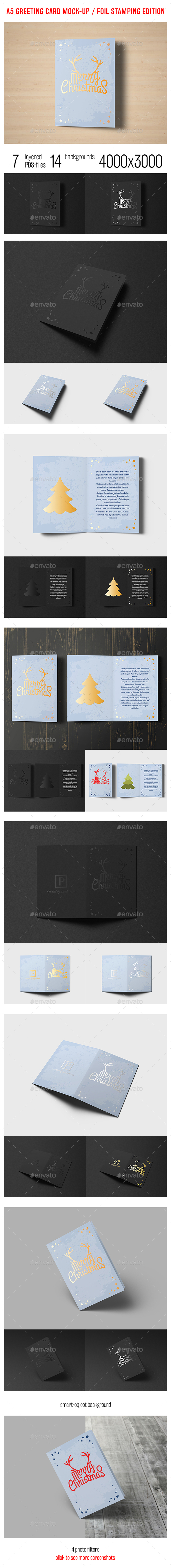 A5 Greeting Card Mock-up / Foil Stamping Edition - Miscellaneous Print