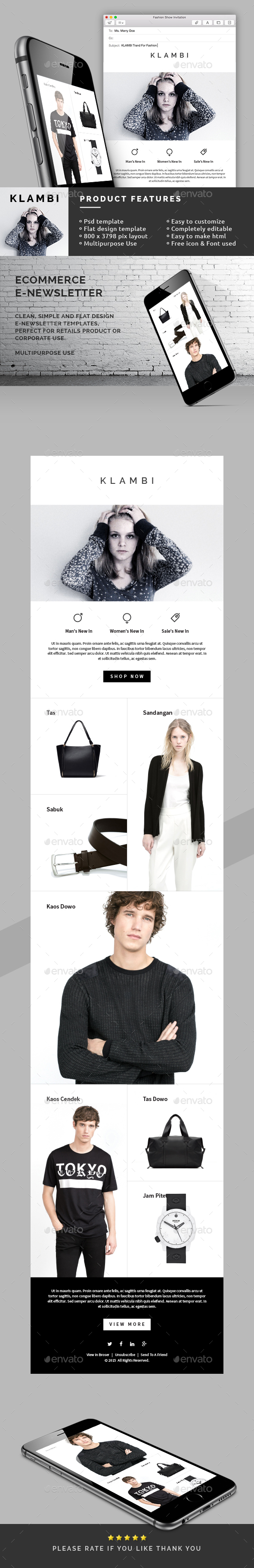 eCommerce E-Newsletter Template - E-newsletters Web Elements