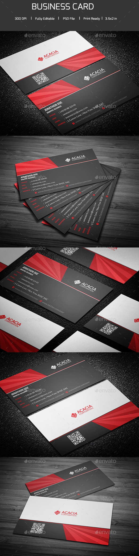 Modern and Simple Business Card - Corporate Business Cards