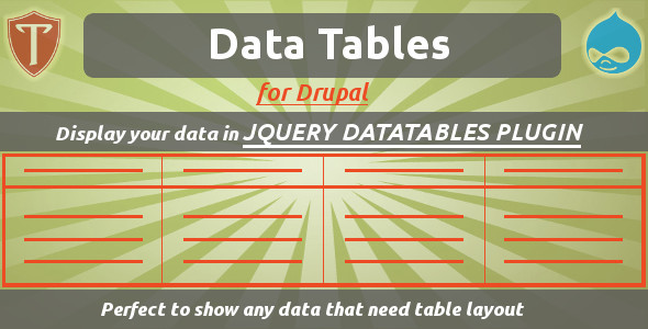 Data Tables for Drupal - CodeCanyon Item for Sale