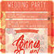 Wedding Party Flyer Template - GraphicRiver Item for Sale