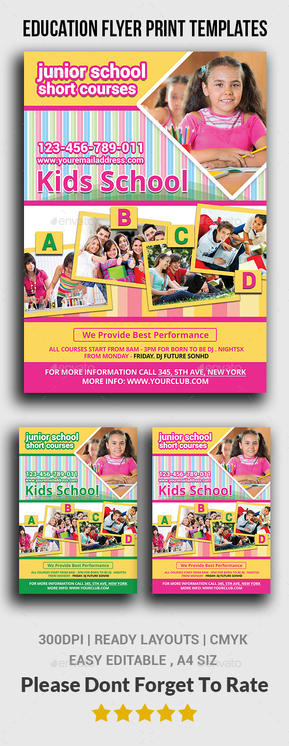 Education Flyer Print Templates  - Corporate Flyers