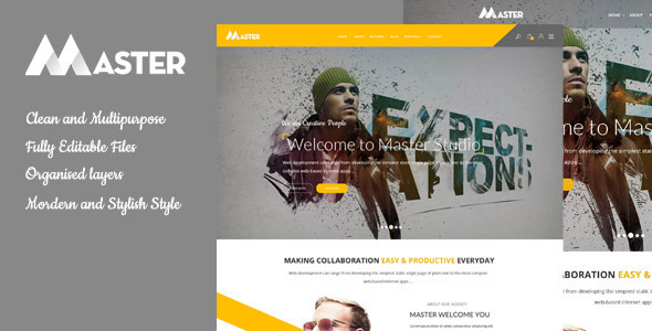 Master – Multipurpose Psd template