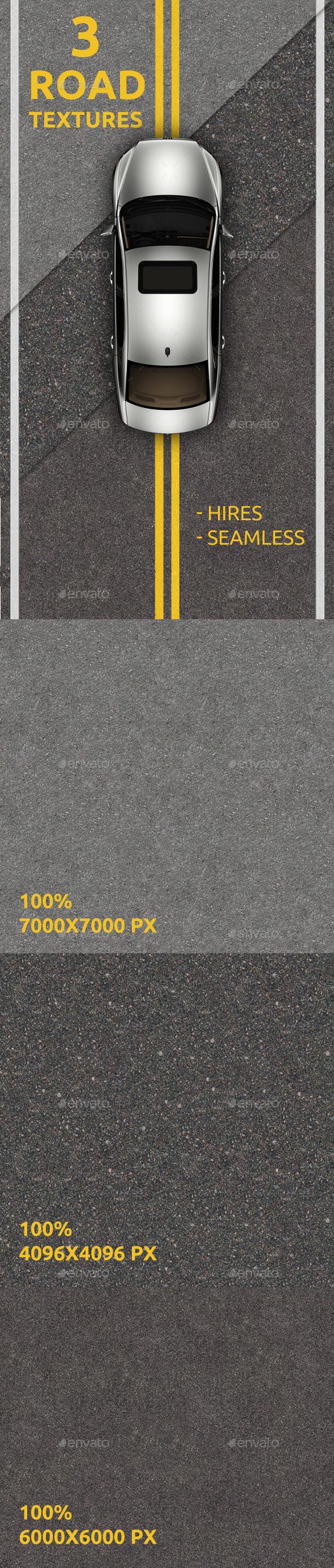 3 Asphalt textures - Concrete Textures