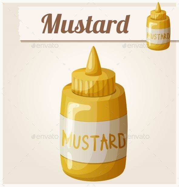 Mustard. Cartoon Vector Icon - Food Objects