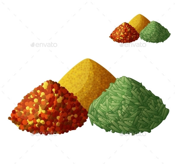 Dried Spices Isolated On White Background - Seasons Nature