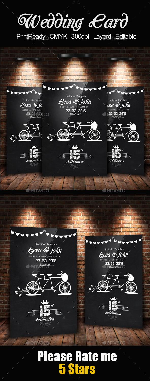 Chalk Board Wedding Invitaion - Weddings Cards & Invites