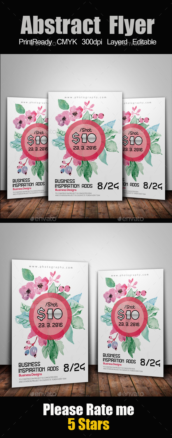 Pink Floral Flyer Template - Events Flyers