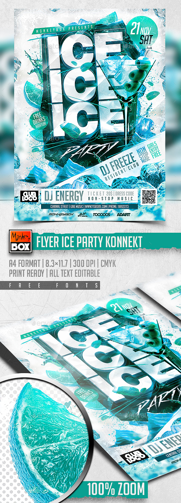 Flyer Ice Party Konnekt - Clubs & Parties Events
