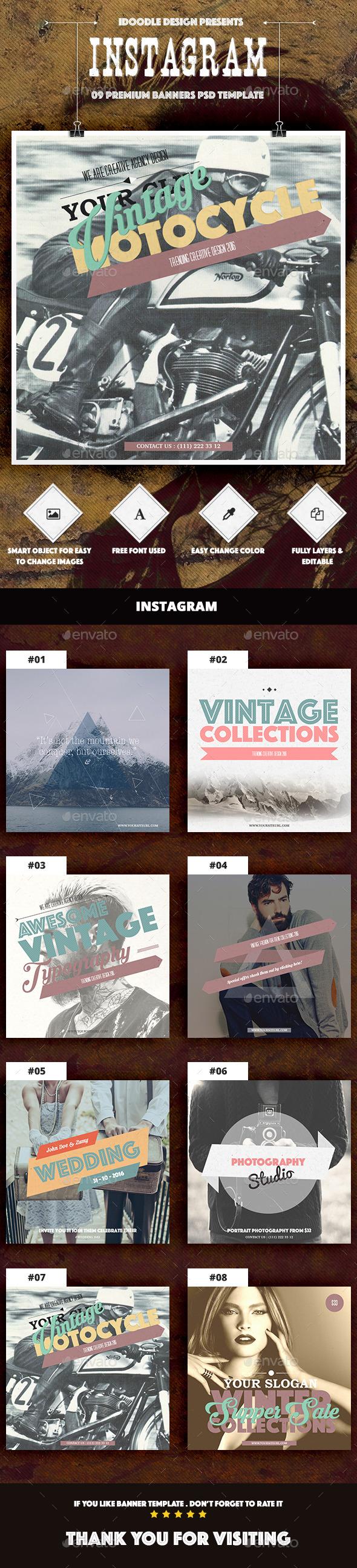 Multipurpose Instagram Ad - Social Media Web Elements