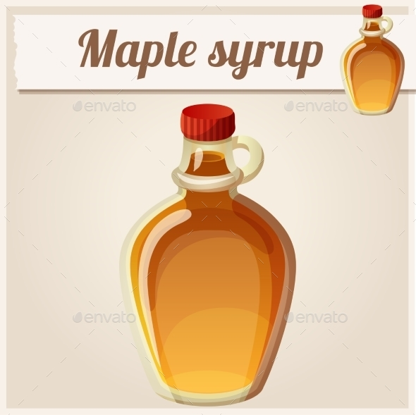 Maple Syrup. Detailed Vector Icon - Food Objects