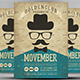 Vintage Movember Party Flyer Template - GraphicRiver Item for Sale