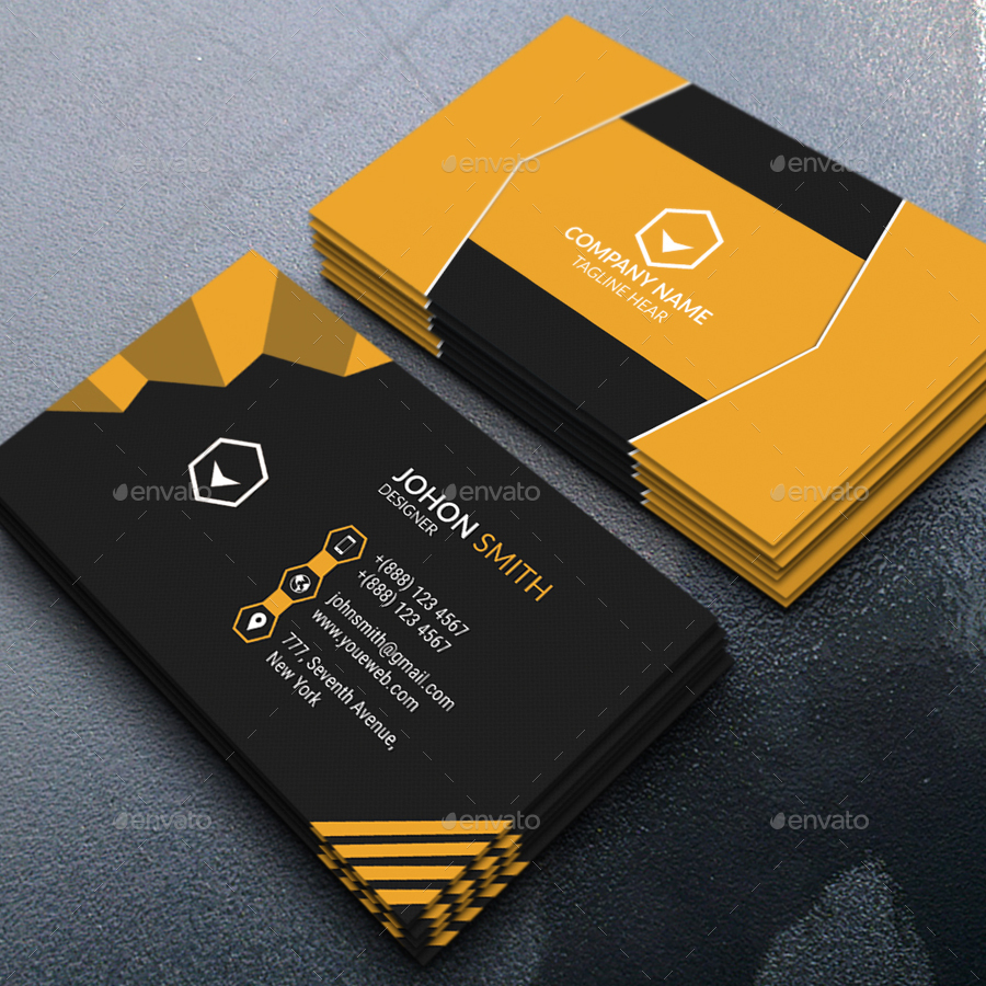 Modern business card by saiful islam graphicriver for Modern business cards templates