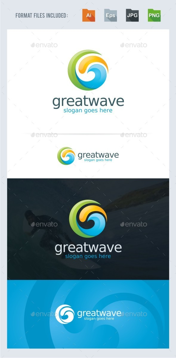 Wave - Ocean Logo - Nature Logo Templates