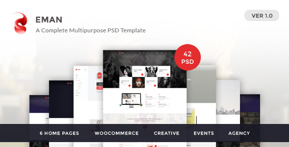 Eman – Creative Multipurpose PSD Template