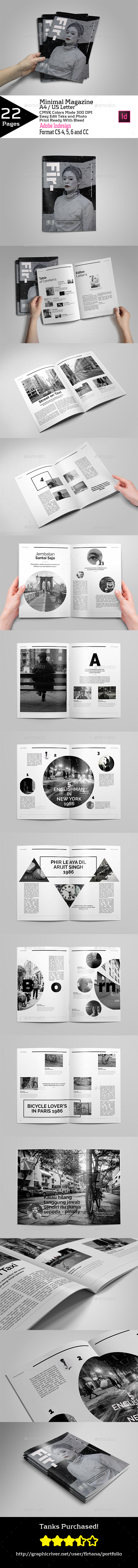 Minimal Magazine A4/US Letter - Magazines Print Templates