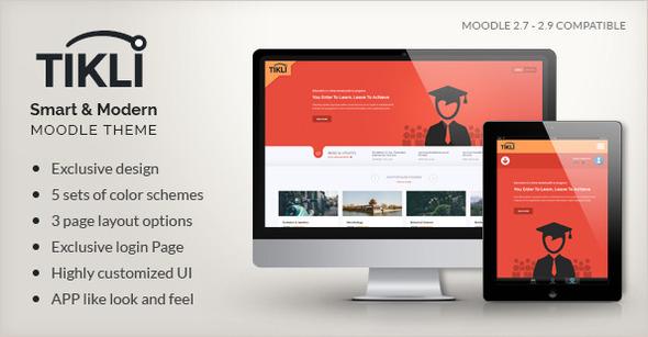 TIKLI – Responsive Moodle Theme