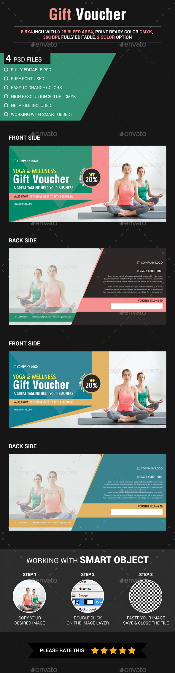 Yoga Gift Voucher - Loyalty Cards Cards & Invites