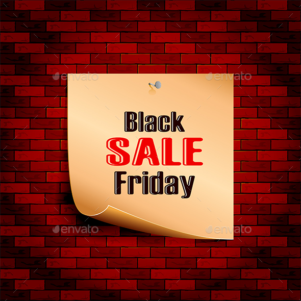 Black Friday Sale on Brick Wall - Retail Commercial / Shopping